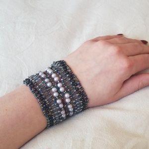 Jewelry - Beaded Pearl Bracelet